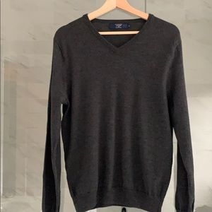 men's J. Crew v-neck grey/charcoal sweater